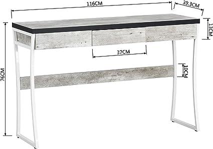 Mesa tipo consola para entrada con cajones de madera y patrón de ...