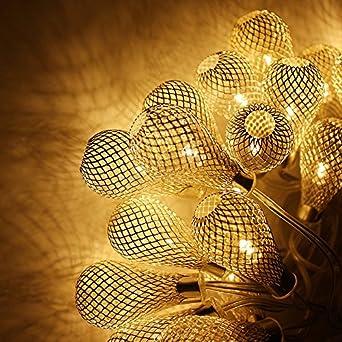 torchstar mesh ball battery operated fairy string lights led christmas lights 10ft 20 led 2
