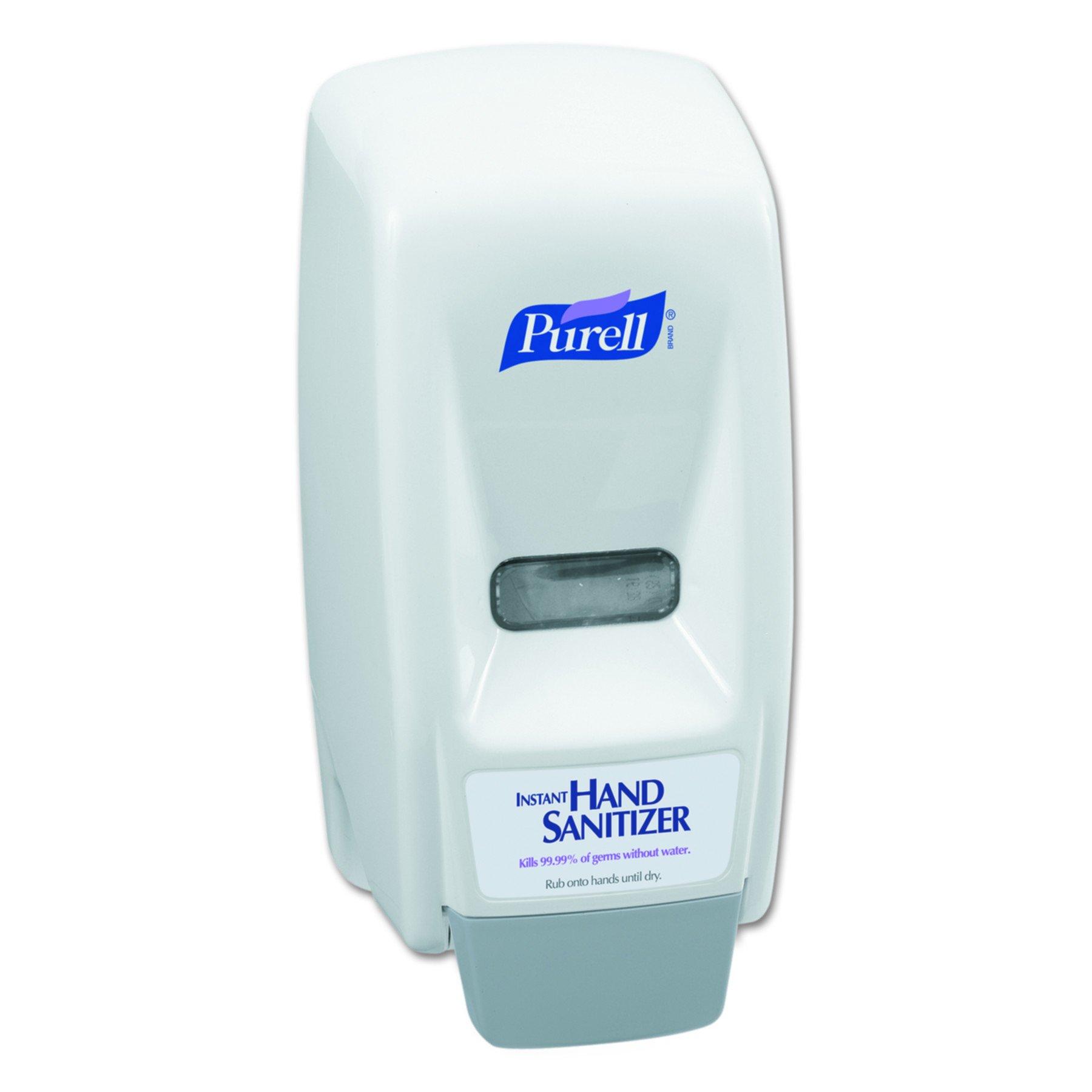 PURELL 962112 Bag-In-Box Hand Sanitizer Dispenser, 800mL, 5 5/8w x 5 1/8d x 11h, White