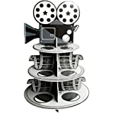 Fun Express Movie Reel Cupcake Holder Foam for Your Oscar Party Novelty, 12 x 17-1/4""