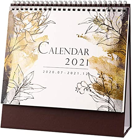 1 calendrier de bureau, calendrier de table, décoration de bureau