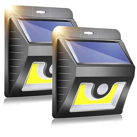 B-right Foco Luces Solar con Sensor de Movimiento Exteriores, Lámpara Solar de Exterior