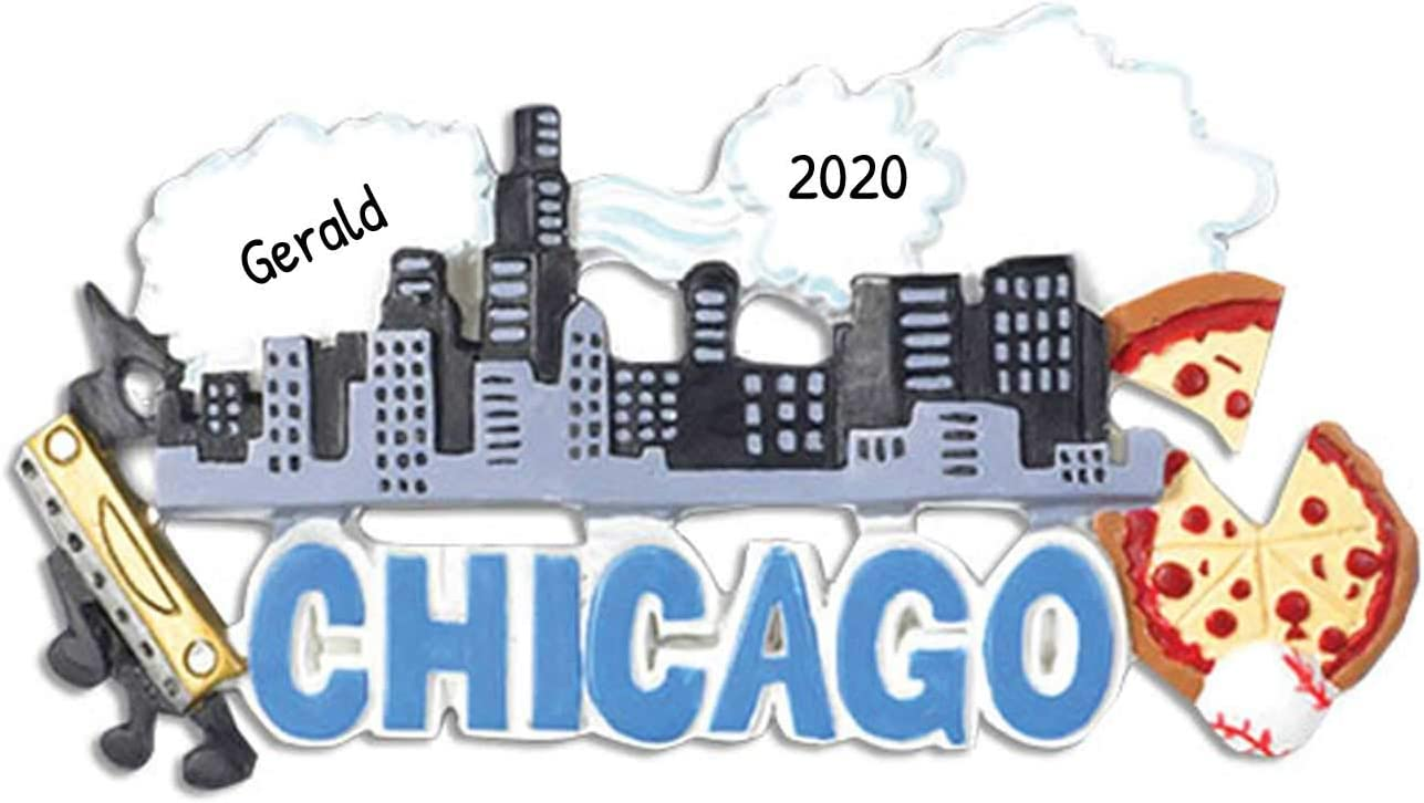 Chicago Il Christmas Tree 2020 Amazon.com: Personalized Chicago Christmas Tree Ornament 2020