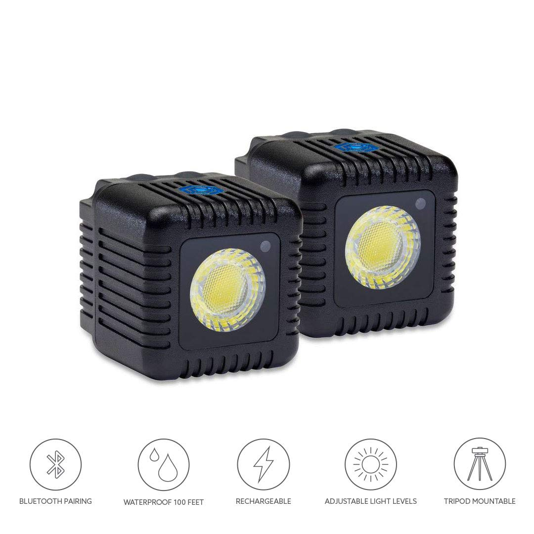 Lume Cube - LED Light for Photo, Video, and Content Creation - 1,500 Lumens - Portable, Durable, Waterproof (Two Pack - Black)