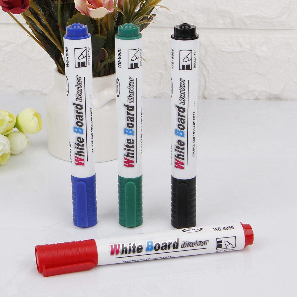 Azul 4 Colores 13 cm Pizarra no t/óxica Youlin Marcador de Pizarra Blanca borrable en seco con rotulador
