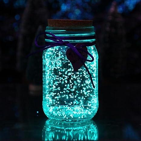 TAOtTAO 5Bag/50G Brilla en la Oscuridad Luminoso Arena Acuario Fluorescente partícula pecera, 0.12, Color E: Amazon.es: Deportes y aire libre