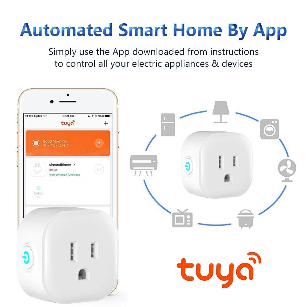 Atralife Mini Smart Plug 2 Pack, Wifi Smart Plug Socket Outlet Works with  Alexa and Google Home