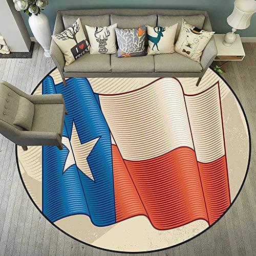 Circularity Floor mat Salon Round Indoor Floor mat Entrance Circle Floor mat for Office Chair Wood Floor Circle Floor mat Office Round mat for Living Room Pattern 4'7