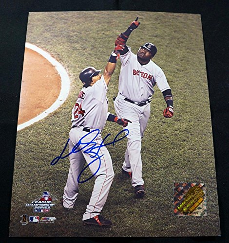 MANNY RAMIREZ Signed BOSTON RED SOX 8x10 Photo w/David Ortiz - Autographed MLB Photos