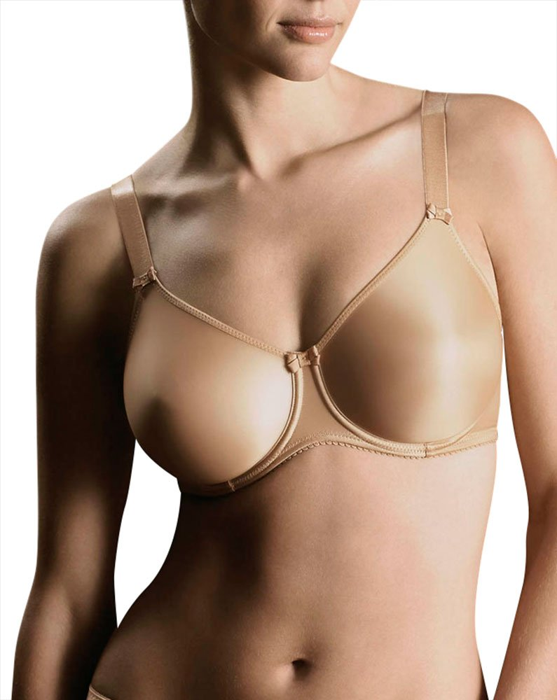 Prima Donna Seamless Satin Bra, 36F, Natural Ivory