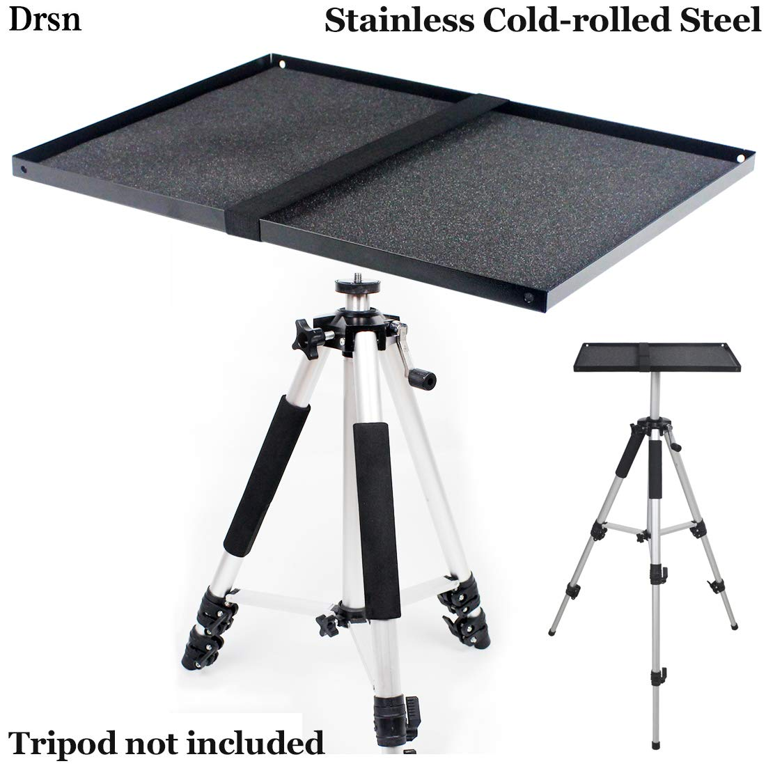 Projector Tripod Tray Platform Holder Pallet for Tripod Stand Mount 3/8'' Screw Mountable for Projectors SLR laptops DJ Equipment Mixers Amplifiers Audio/Video Devices (Tray Only)
