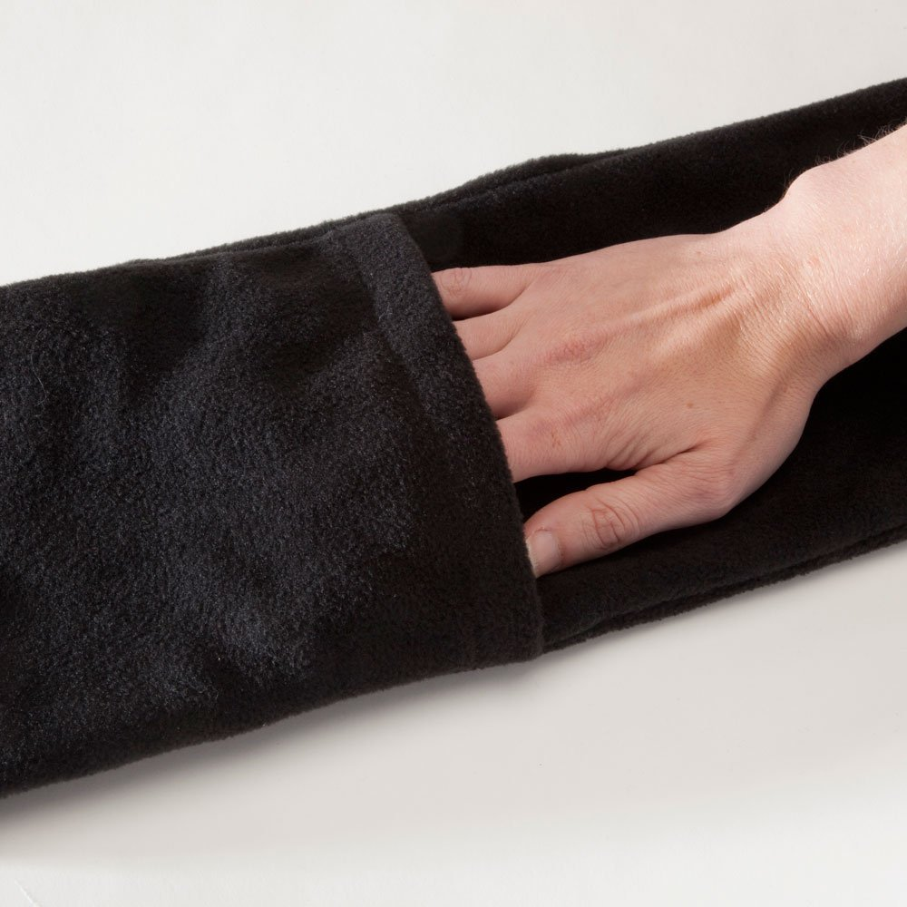 Bits and Pieces 66 Long Neckwear with Pockets Micro Fleece Battery-Operated Heated Scarf