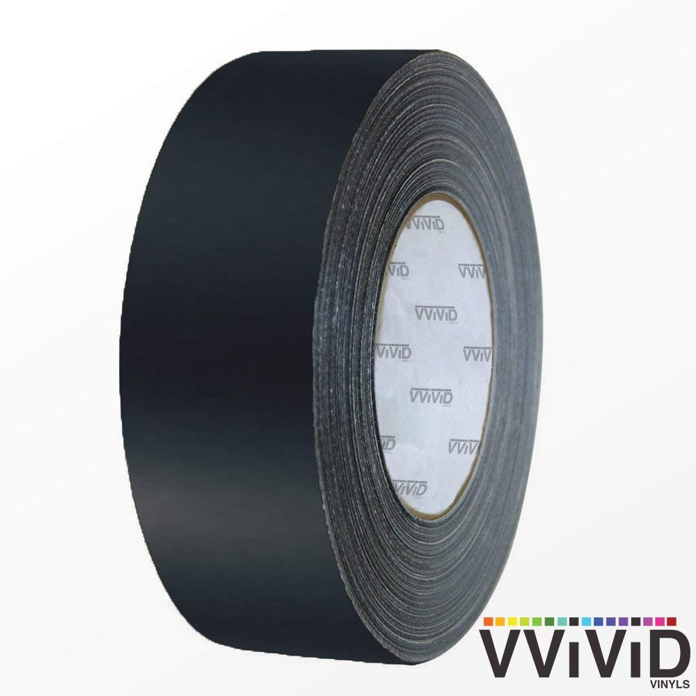 1//2 x 20ft VViViD Black Matte Air-Release Adhesive Vinyl Tape Roll