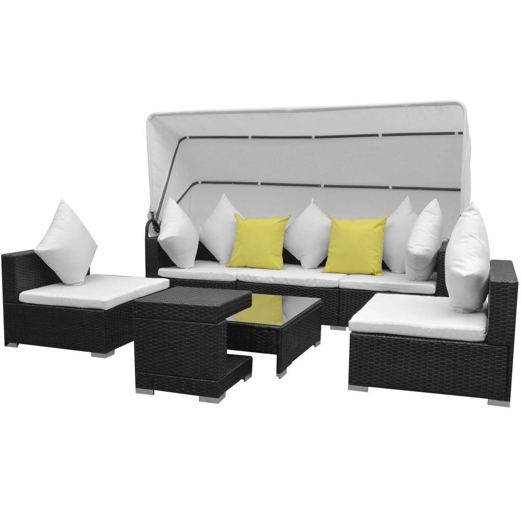 Festnight Polyrattan Lounge Set Loungemöbel Loungeset