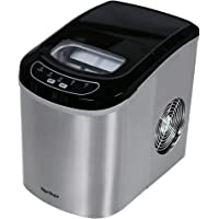 Northair HZB-12/SA Portable Ice Maker Machine Counter Top with 26lbs Daily Capacity Stainless Steel Colorful (Natural)