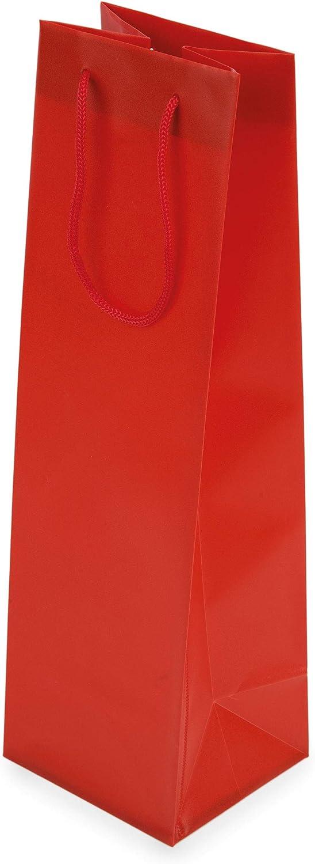 My Custom Style 10 Sacchetti Carta Shopper Argento Porta Vino Personalizzati