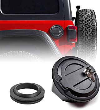 Amazon Com Fuel Tank Cap Door Gas Cap Cover With Lock For 2018 2020 Jeep Wrangler Jl Jlu Rubber Ring Included Automotive