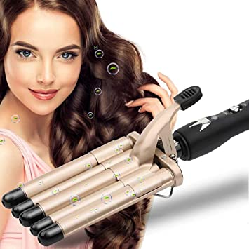 Hair Curler 5 Barrels Wand Hair Waver Curling Iron For Long Or Short Hair Professional Curling Wand Temperature Adjustable Heat Up Quickly Hot Tools Gold Amazon Co Uk Beauty