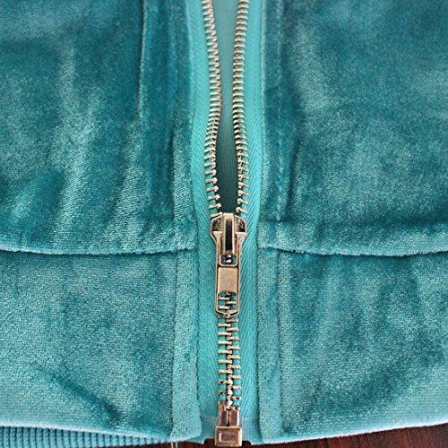 Aisuper - Chaqueta - chaqueta - Manga Larga - para mujer Azul