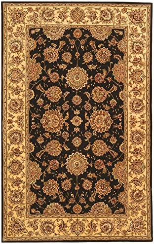Safavieh Persian Court Collection PC123B Handmade Plum and Ivory Wool Area Rug 5' x 8'