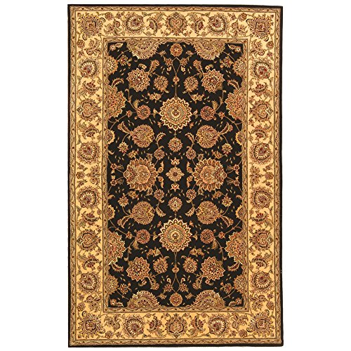 picture of Safavieh Persian Court Collection PC123B-5 Plum and Ivory Wool and Silk Area Rug, 5-Feet by 8-Feet