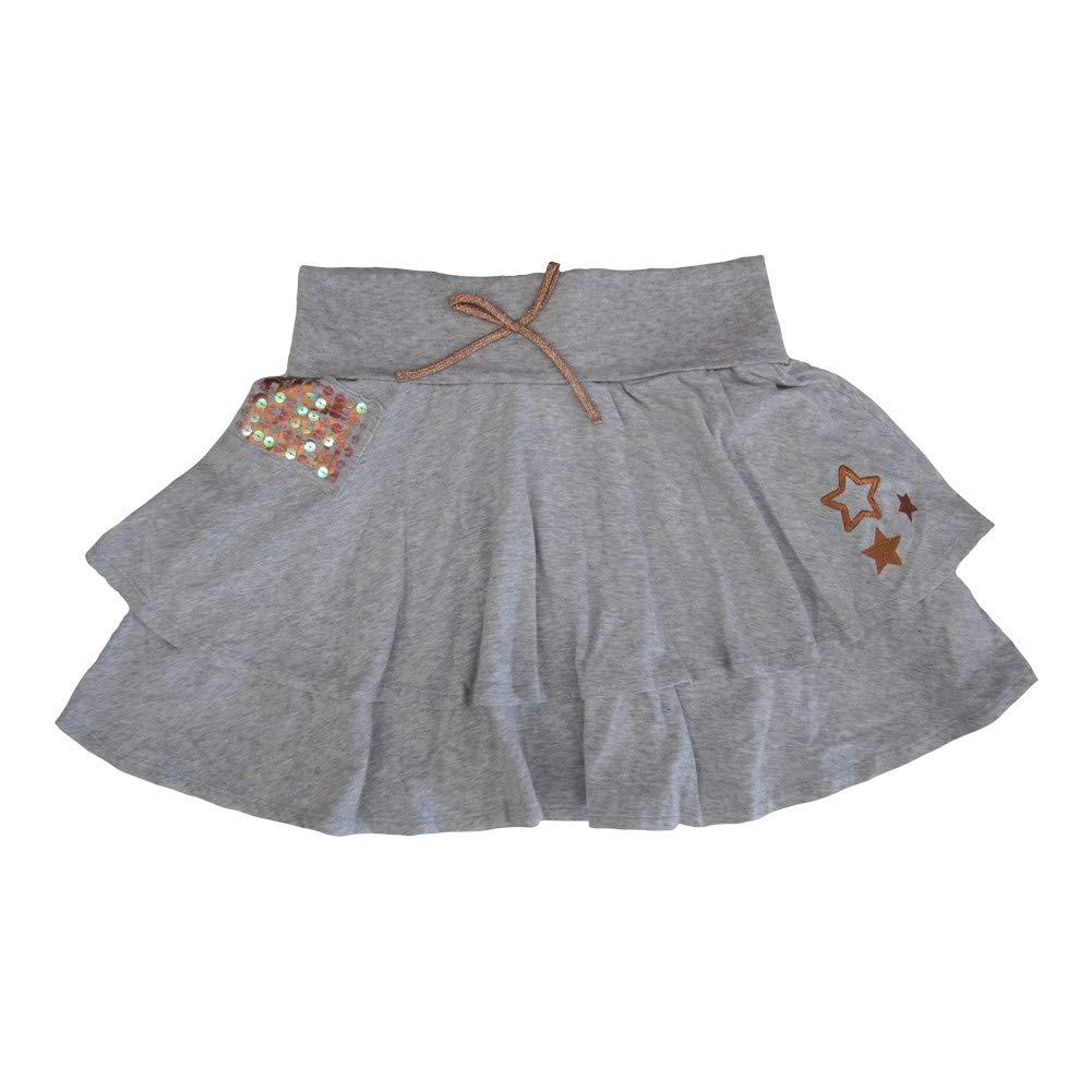 Disney Big Girls Grey High School Musical Glitter Sequin Bow Tiered Skirt 8-16