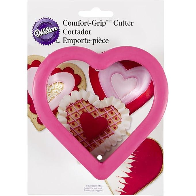 Amazon.com: Wilton Comfort Grip Heart Cutter: Valentines Cookie ...