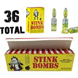 (36) Stink Bombs - Stinky Glass Gag Prank Fart Joke (1 case of 36) Novelty