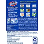 Clorox Disinfecting Wipes with Micro-Scrubbers, Bleach Free Cleaning Wipes - Crisp Lemon, 70 Count Each (Pack of 3) 20 DISINFECTING WIPES: Clean and disinfect with a powerful antibacterial wipe killing 99.9% of bacteria and viruses and remove common allergens around your home SANITIZING WIPE: Clorox Micro-Scrubber sanitizing wipes are thick with double sided texture to remove tough dirt, messes and baked on soils MULTI-SURFACE CLEANER: Clorox cleaning wipes clear drying formula powers through grease, soap scum and grime so you can conveniently tackle any tough surface including finished wood, sealed granite and stainless steel