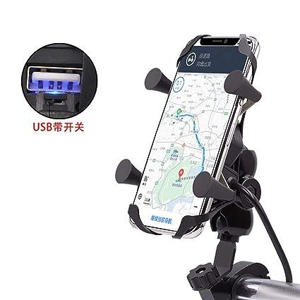 Cargador de soporte de teléfono móvil para motocicleta, 12 V ...