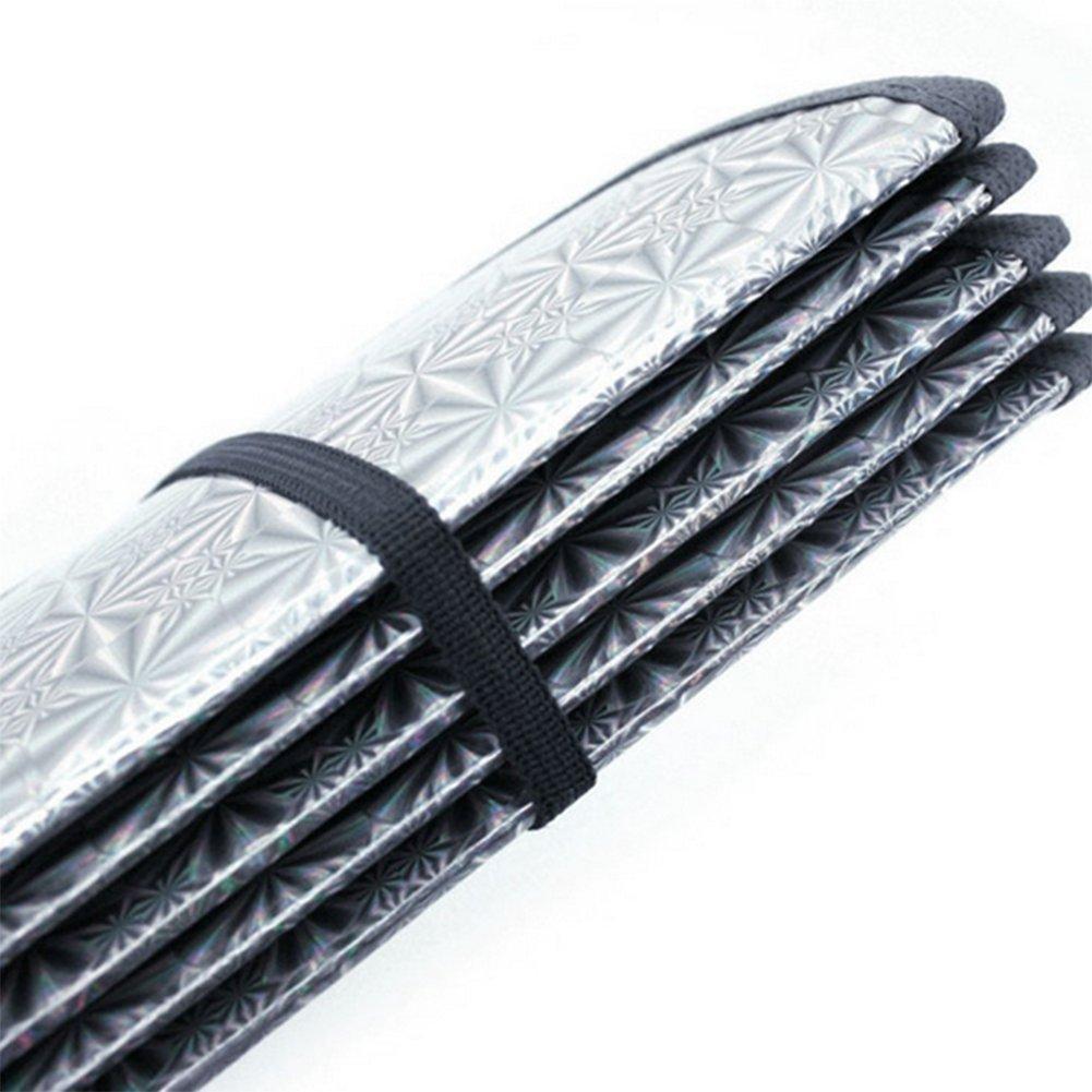 Yo parasole per auto parabrezza parasole parabrezza anteriore parasole ombra UV Block riflettente parabrezza carta stagnola alluminio Silver 140*70cm vi