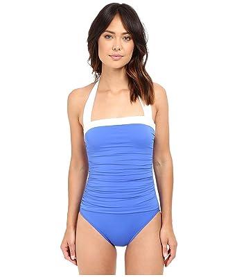 bb655cd38dcd1 Lauren Ralph Lauren Women's Bel Aire Solids Shirred Bandeau Mio Slimming Fit  w/Soft Cup