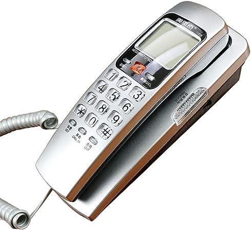 Teléfono De Pared - Teléfono con Cable,Sin Batería,La Pared De La Mesa Es De Doble Propósito,Casa De La Moda Teléfono Fijo: Amazon.es: Hogar