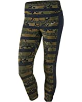 Nike Clash Epic Lux 686036-356 Militia Green/Black Women's Dri-Fit Running Crops