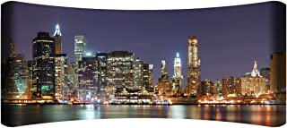 "product image for Next Innovations 48"" X 19"" Hd Curved Wall Art New York Skyline Home Decor"