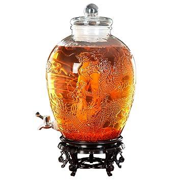 Coco - Dispensador de bebidas multifunción – Dispensador de cristal con patrón de grabado suspendido –