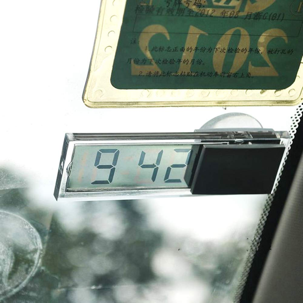 Fliyeong Premium Quality Vehicle Mounted Sucker LCD Digital Display Car Office Home Dashboard Clock