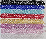 Gothic Choker Set (Set of 10) - Hippy Tattoo Necklace - Choker Collar Fashion Jewelry Accessory - Stretchable Elastic - Random Colors to Match Earrings, Rings & Bracelets by Harmony101