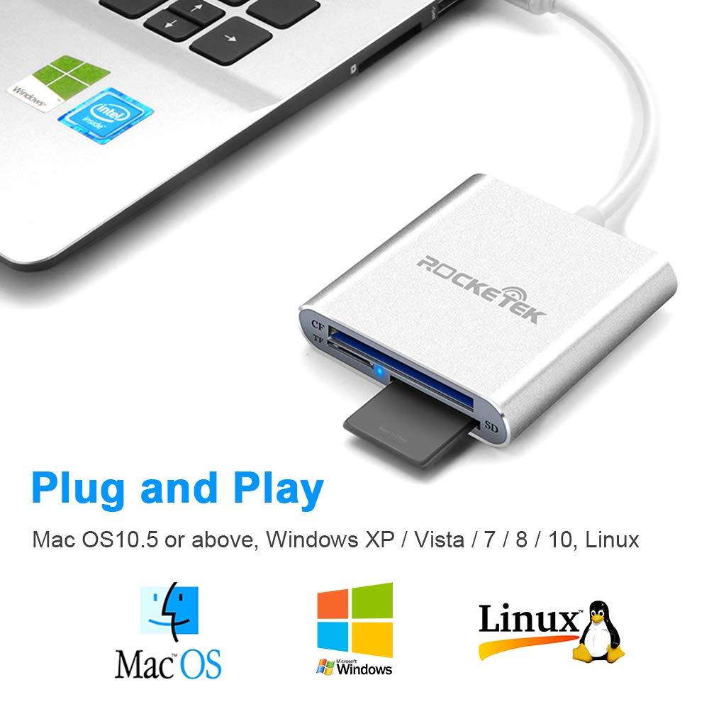 Rocketek USB 3.0//2.0 HUB Adapter with SD//Micro SD Card Reader for Microsoft Surface Pro 3 Support 2 TF Cards //Pro//Pro 4 1 SD Cards 1 USB 2.0 USB 3.0 Hub Combo Adapter 12.3