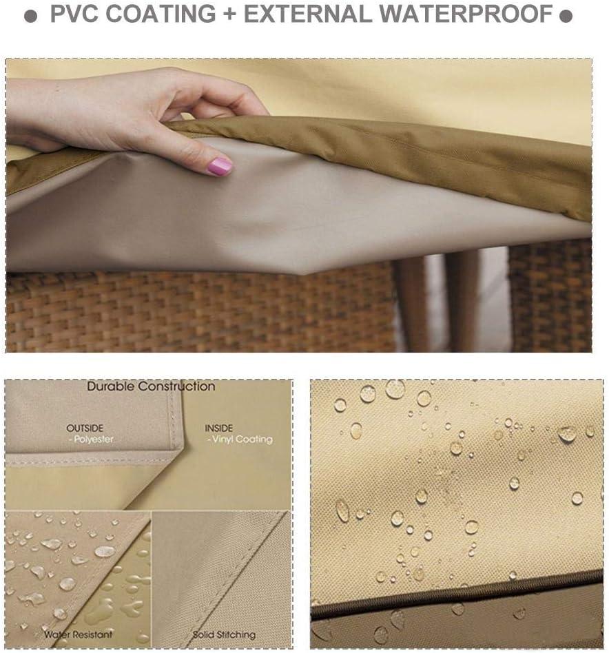 Fodera per divano per esterno Divano a due posti regolabile Copridivano 210D Impermeabile antipolvere resistente ai raggi UV Copertura per panca da patio Copertura per mobili con chiusura a coulisse