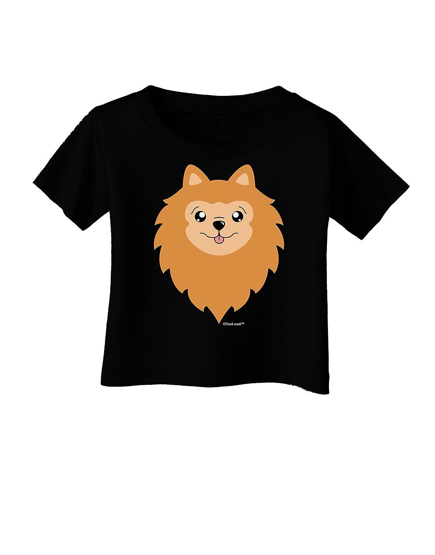 TooLoud Cute Pomeranian Dog Infant T-Shirt Dark