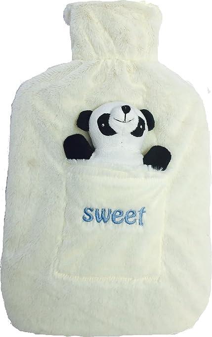 Bolsa de agua caliente con bonita funda polar para niños y adultos, 2 litros Ideal para la cocina, niños, viajes, camping, cuidado de la salud., ...