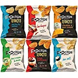Popchips Potato Chips and Ridges, Mixed Variety Sampler, Different Flavors, 0.8 Ounce Bags (27 Count)