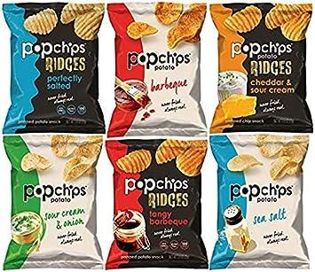 Popchips Potato Chips and Ridges, Mezcla variedad ...