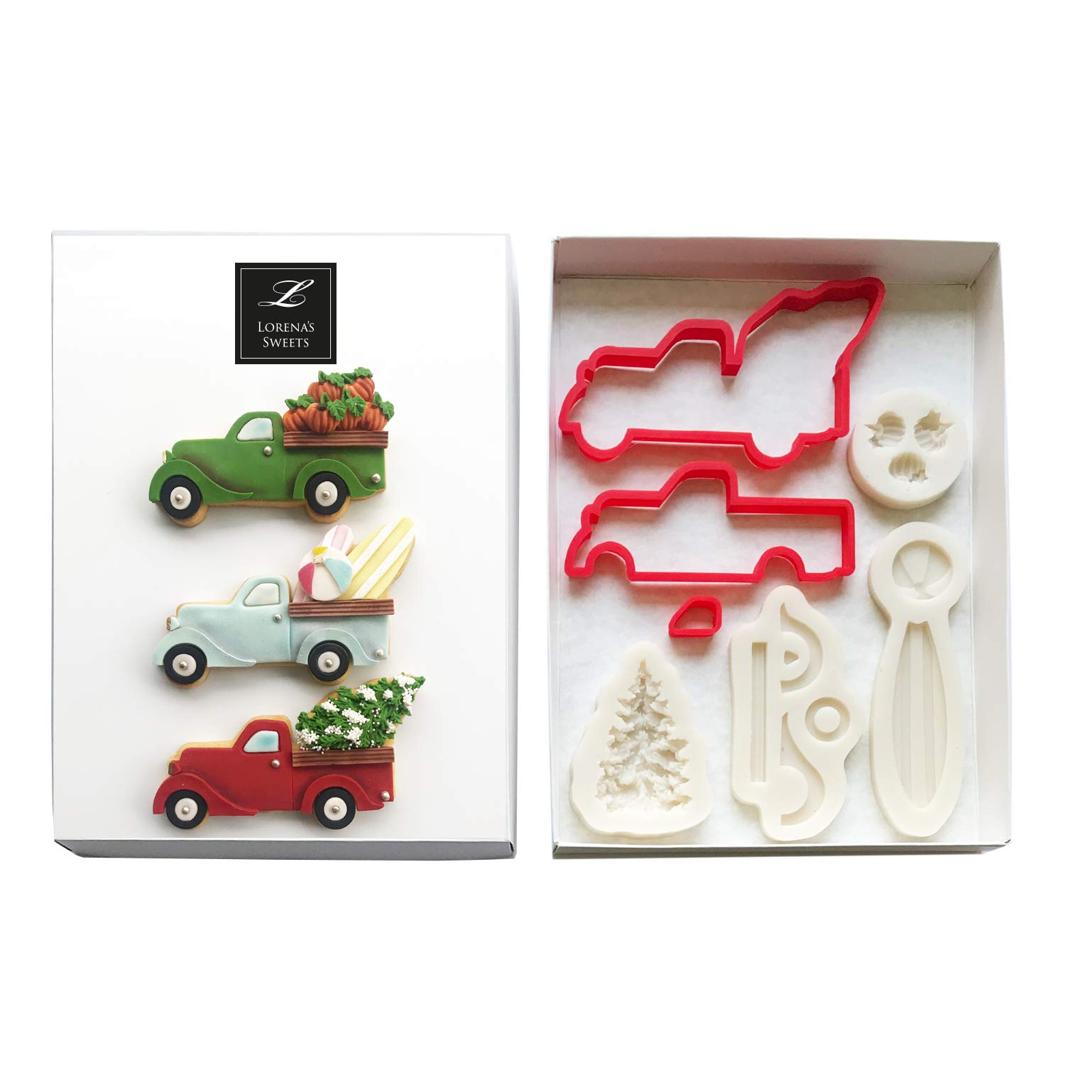 Lorena´s Sweet Fondant Cookie Cutter Kit Pickup Truck by Lorena´s Sweets