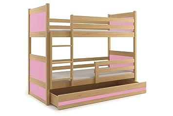 Etagenbett Mit Lattenrost Und Matratzen : Interbeds etagenbett rico cm farbe kiefer mit lattenroste