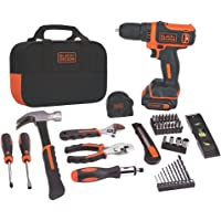 Deals on BLACK+DECKER 12V MAX Drill & Home Tool Kit 60-Piece