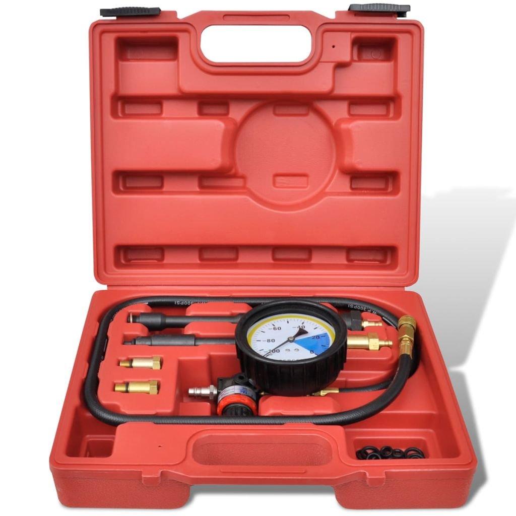 vidaXL Testeur de pression Moteur Essence 7 pcs Testeur Fuite de Cylindre