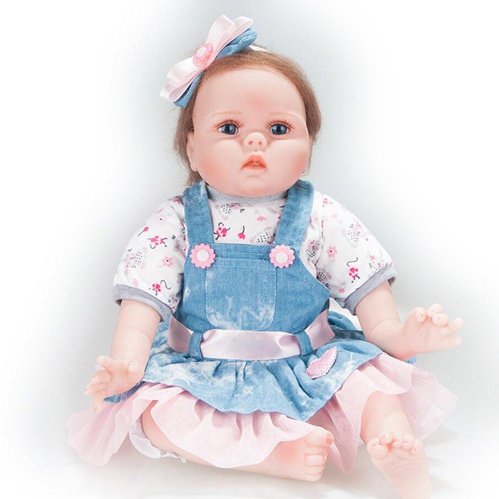 7fdfff048b7d Juguetes y juegos Muñecos bebé ERBEIOU Reborn Baby Dolls Muñecos Bebé  Recién 21 Pulgadas Recien Nacidos ...
