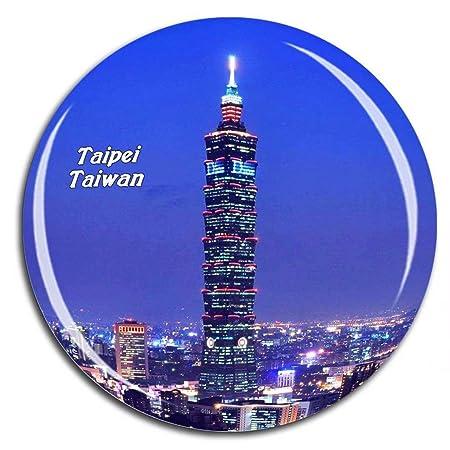 Weekino Taipei 101 Taiwán Imán de Nevera Cristal de Cristal 3D ...
